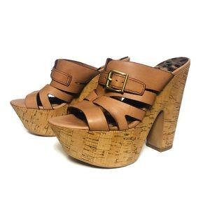 Sam Edelman Shoes - Sam Edelman Chase Cork Platform Leather sandals 7